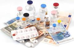 Pharmaceutical cost Stock Photos