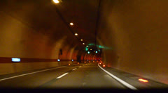 Driving on tunnel Stock Footage