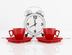 coffee time - stock illustration