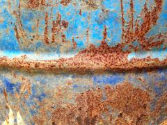 Rusty metallic frame background Stock Photos