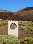 Zero meridian monument on hierro Stock Photos