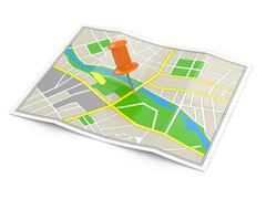 Location. map and thumbtack. gps concept. Stock Illustration