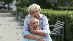 Seniors in love - stock footage