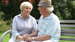 Charming retirees Stock Footage