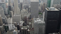 New York City buildings seen from above Stock Footage