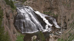 Yellowstone National Park Gibbon Falls 017 06-24-2013 Stock Footage