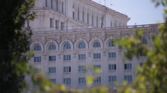 The palace of the parliament in bucharest romania Stock Footage