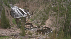 Yellowstone National Park Gibbon Falls 020 06-24-2013 Stock Footage