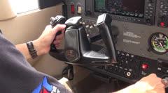 Airplane Cockpit, Pilots Instruments, Navigation Stock Footage
