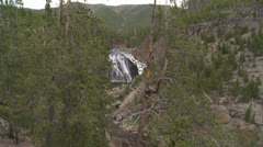 Yellowstone National Park Gibbon Falls 023 06-24-2013 Stock Footage