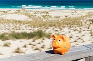 Stock Photo of piggybank in holidays