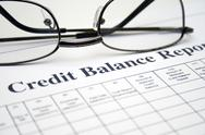Stock Photo of credit balance report