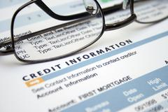 Stock Photo of credit information form