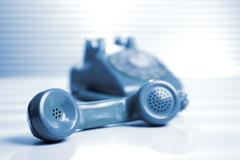 Phone with telephone receiver Stock Photos