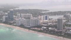 Beach, Coastal City, Buildings, 2D, 3D Stock Footage