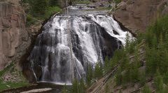 Yellowstone National Park Gibbon Falls 025 06-24-2013 Stock Footage