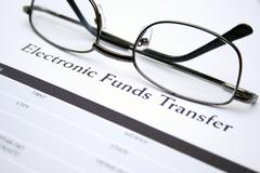Electronic funds transfer Stock Photos