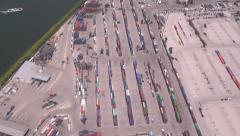 Shipping Yard, Miami Aerial, Coastal City, Buildings, 2D, 3D Stock Footage