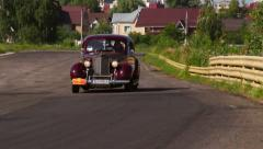 Dark red Packard Six 1700 vintage car Stock Footage