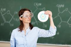 chemistry teacher - stock photo