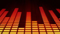 Audio equalizer background. Orange and blue. Stock Footage