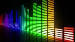 Multicolored sound equalizer. Loopable. Stock Footage