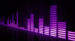 Audio equalizer bars moving. Loopable. Purple.  - stock footage