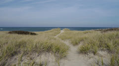 Provincetown ocean view from dunes nov 2011 Stock Footage
