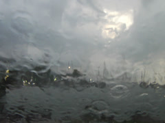 Rainy Marina Stock Footage
