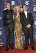 Jim parsons, kaley cuoco, & johnny galecki.61st primetime emmy awards held at Stock Photos