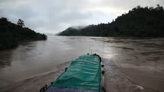 Laos Burma Myanmar Golden Triangle Mekong River Stock Footage