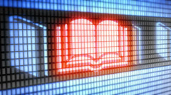 Book icon Stock Footage