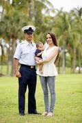 Kanta kuva sotilaallisen perheen Kuvituskuvat