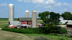 Stock Video Footage of Wisconsin Dairy Farm Panorama 2