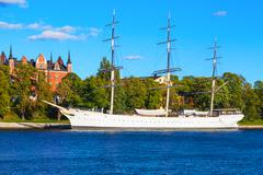 Historical ship ''AF Chapman'' in Stockholm, Sweden - stock photo