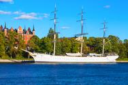 Stock Photo of Historical ship ''AF Chapman'' in Stockholm, Sweden