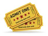 Stock Illustration of Cinema tickets