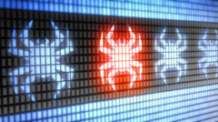 Virus icon Stock Footage