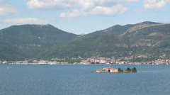"View of the Bay of Kotor (""Boka Kotorska""), Montenegro Stock Footage"