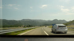 Driving on croatian roads and tunnels Stock Footage