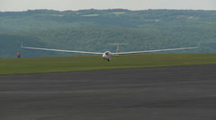 Sailplane Landing at Gliderport 2 Stock Footage
