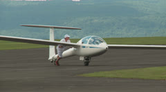 Sailplane Staging and Assembly at Gliderport 1 Stock Footage