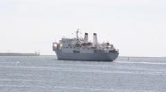 Global Sentinal Telecom Cable Ship - stock footage