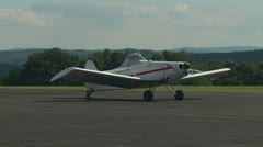Towplane Prepares for Take-off at Gliderport 1 Stock Footage