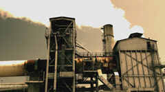 Oil Refinery - Tight Shot (Graded) Stock Footage