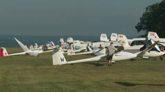Sailplane Staging & Assembly at Gliderport 2 Stock Footage