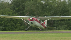 Towplane Powers Down at Gliderport 1 Stock Footage
