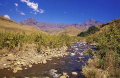 Amphitheatre at Royal Natal National Park, Kwazulu Natal, Northern Drakensberg, - stock photo