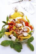 Frutti di Mare, seafood salad, elevated view Stock Photos