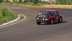 Lancia Fulvia Coupe in Peking to Paris retro cars rally Stock Footage